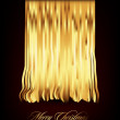 Royalty-Free Stock Imagem Vetorial: Golden Christmas Thread | Ribbon