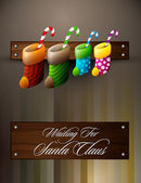 Waiting For Santa Claus | Christmas Family Concept — Vetorial Stock