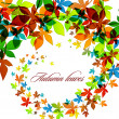 Autumn Background | Falling Leaves - Stock Vector