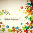 Autumn Background | Falling Leaves - Stockvectorbeeld