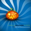 Funny Halloween Pumpkin with Big Smile — Stock vektor