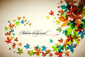 Autumn Background | Falling Leaves — Stockvektor