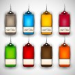 Set of Blank Tags| Labels of Different Colors — Stock Vector