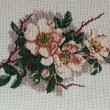 Flowers, cross stitch — Stock Photo