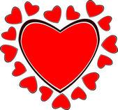 Hjärtat tecken — Stockfoto