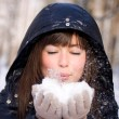 Stock Photo: Girl with snow