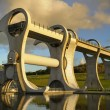The Falkirk Wheel at Sunset - Stock Photo
