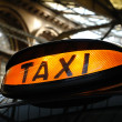 Taxi at the Station - Stock Photo