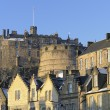 Edinburgh Castle and Grassmarket — Stock Photo