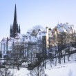Edinburgh in the Snow - Stock Photo