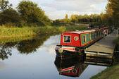 Canal barcazas — Foto de Stock