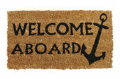 Welcome Aboard Mat — 图库照片