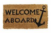 Bienvenido a bordo de la estera — Foto de Stock