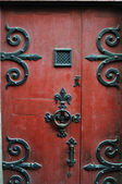 Old Red Door, Normandy, France — Stock Photo
