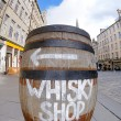 Whisky barrel sign — Stock Photo