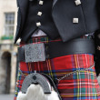 Scotsman in his kilt — Stock Photo