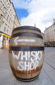 Whisky barrel sign — Stock Photo