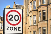 20Mph Residential Zone — Stock Photo