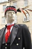 Maniquí en vestimenta tradicional escocesa — Foto de Stock