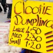 Clootie Dumpling Sign - Stock Photo