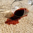 Spilled Wine on Carpet - Stock Photo