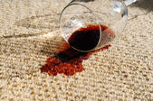 Spilled Wine on Carpet — Stock Photo