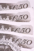 Fifty Pound Notes — Stock Photo