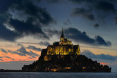Mont St Michel at night — Stock Photo