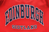 Edinburgh, Scotland - University style sweatshirt — Stock Photo