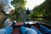 Pair on a Boat in Cambridge — Stock Photo