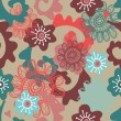 Royalty-Free Stock Vectorielle: Floral seamless pattern