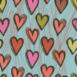 Vector seamless pattern with hearts — Stockvektor