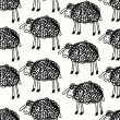 Seamless sheep pattern - Stock Vector