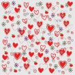 Vector seamless pattern with hearts — ストックベクター #4151822