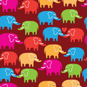 Elephants seamless pattern background — Stock Vector