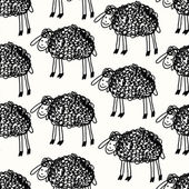 Seamless sheep pattern — Stock Vector