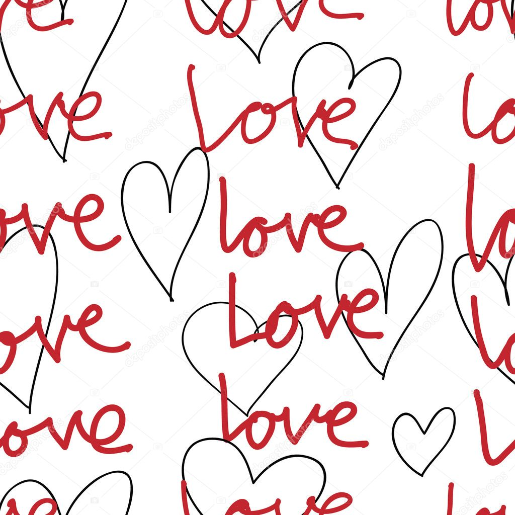 Vector seamless pattern with hearts   Image vectorielle #4151808