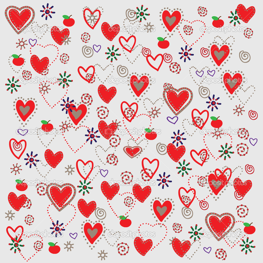 Vector seamless pattern with hearts   Grafika wektorowa #4151822