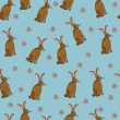 Royalty-Free Stock Imagen vectorial: Background with funny rabbit
