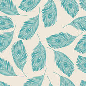 Seamless peacock pattern — Vecteur