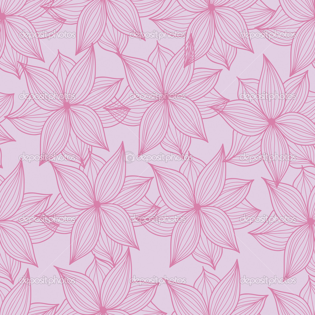 Image of seamless flower pattern  Stock Vector #5219336