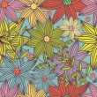 Royalty-Free Stock Immagine Vettoriale: Floral seamless pattern in stylish colors