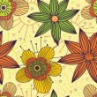 Floral seamless pattern in stylish colors — Stok Vektör