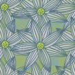 Floral seamless pattern in stylish colors — Stock vektor