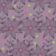 Floral seamless pattern in stylish colors — Image vectorielle