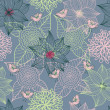 Floral seamless pattern in stylish colors — ベクター素材ストック