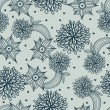 Royalty-Free Stock Vektorfiler: Floral seamless pattern in stylish colors
