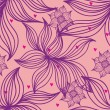 Floral seamless pattern in stylish colors — Imagen vectorial