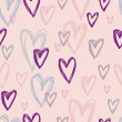 Vettoriale Stock : Romantic seamless pattern