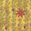 Floral seamless pattern in stylish colors — 图库矢量图片
